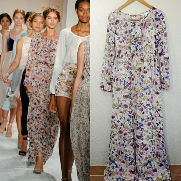 94bf49eee LC Lauren Conrad Dresses & Skirts - LC Lauren Conrad Runway Floral Maxi  Dress